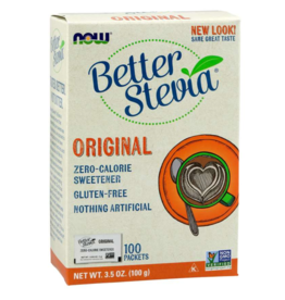 NOW FOODS STEVIA EXTRACT PACKETS ORIGINAL 100/BOX