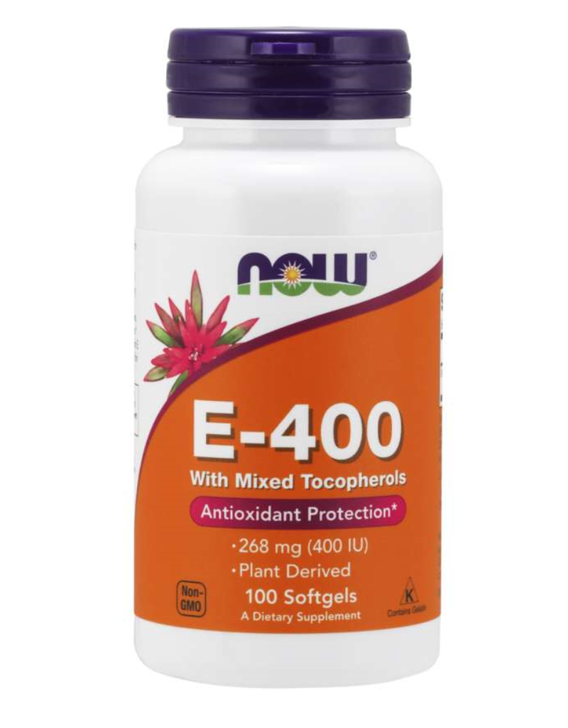 NOW FOODS VITAMIN E MIXED TOCOPH/UNESTERIFIED 400IU 100SG -S