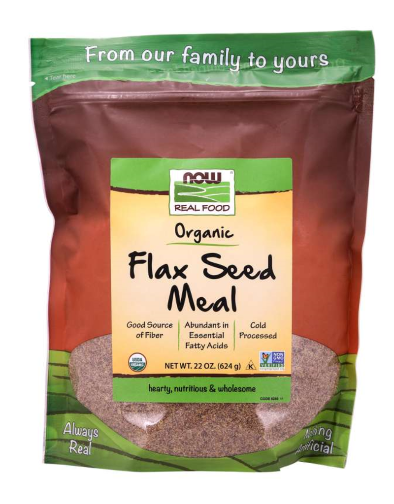 NOW FOODS ORGANIC FLAX SEED MEAL NON-GE 22 OZ