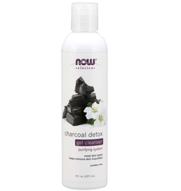 NOW FOODS CHARCOAL DETOX GEL CLEANSER 8 FO