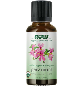 NOW FOODS ESSENTIAL OIL. ORGANIC GERANIUM OIL 1 FO