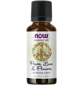 NOW FOODS ESSENTIAL OIL BLEND, PEACE, LOVE & FLOWERS  1 FO