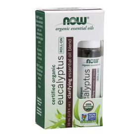 NOW FOODS Essential Oil Blend, Organic Eucalyptus Roll-On 10ML