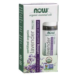 NOW FOODS Essential Oil Blend, Organic Lavender Roll-On Lavender 10ML