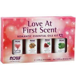 NOW FOODS ESSENTIAL OIL, KIT, LOVE AT FIRST SCENT 4 PK -OOSV [s511/r373d] (di) -S