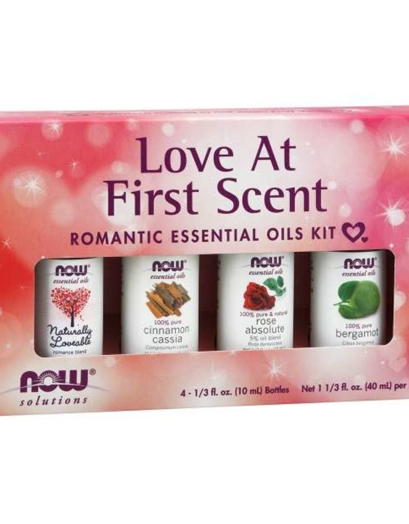 NOW FOODS ESSENTIAL OIL, KIT, LOVE AT FIRST SCENT 4 PK -OOSV