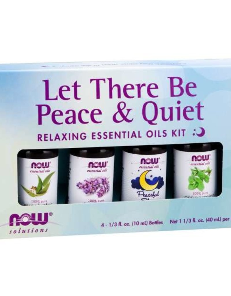 NOW FOODS ESSENTIAL OIL, KIT, LET THERE BE PEACE & QUIET 4 PK -OOSV