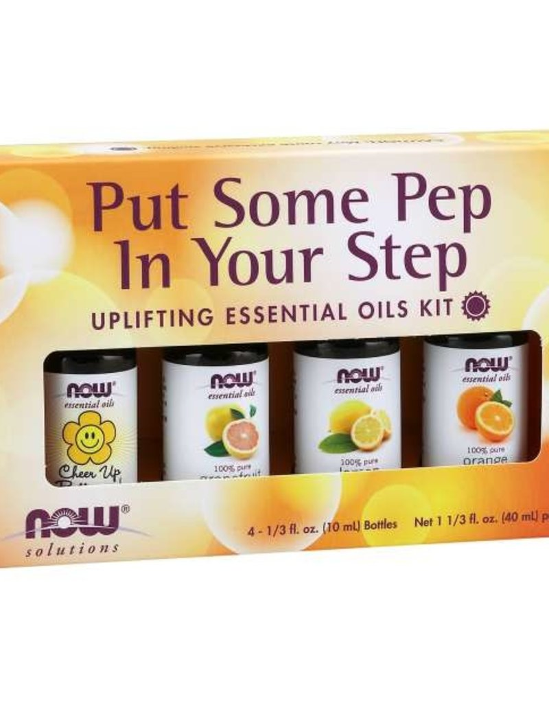 NOW FOODS ESSENTIAL OIL, KIT, PUT SOME PEP IN YOUR STEP 4 PK