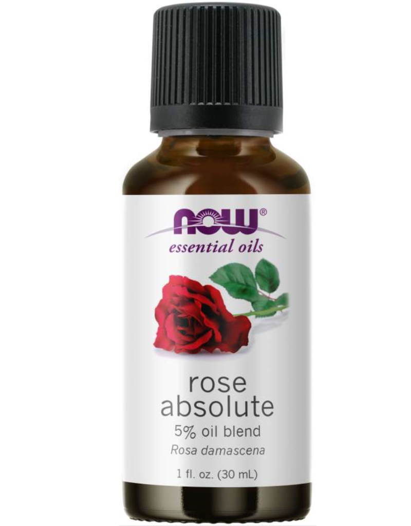 NOW FOODS ESSENTIAL OIL BLEND, ROSE ABSOLUTE (5%) 1 FO
