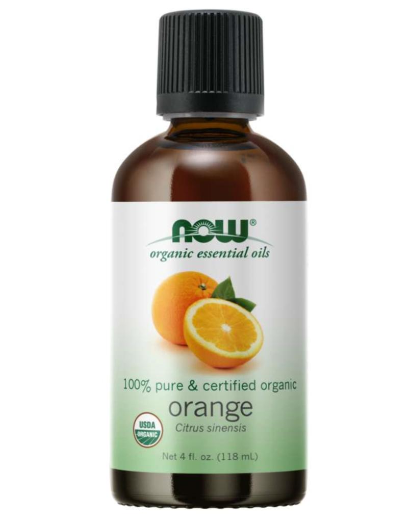 NOW FOODS ESSENTIAL OIL, ORGANIC ORANGE OIL 4 OZ NON-GMO