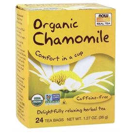 NOW FOODS TEA, ORGANIC, CHAMOMILE  24 BAGS -OOSV