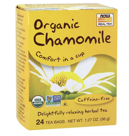 NOW FOODS TEA, ORGANIC, CHAMOMILE  24 BAGS