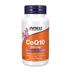 NOW FOODS COQ10 200 MG 60 VC - S