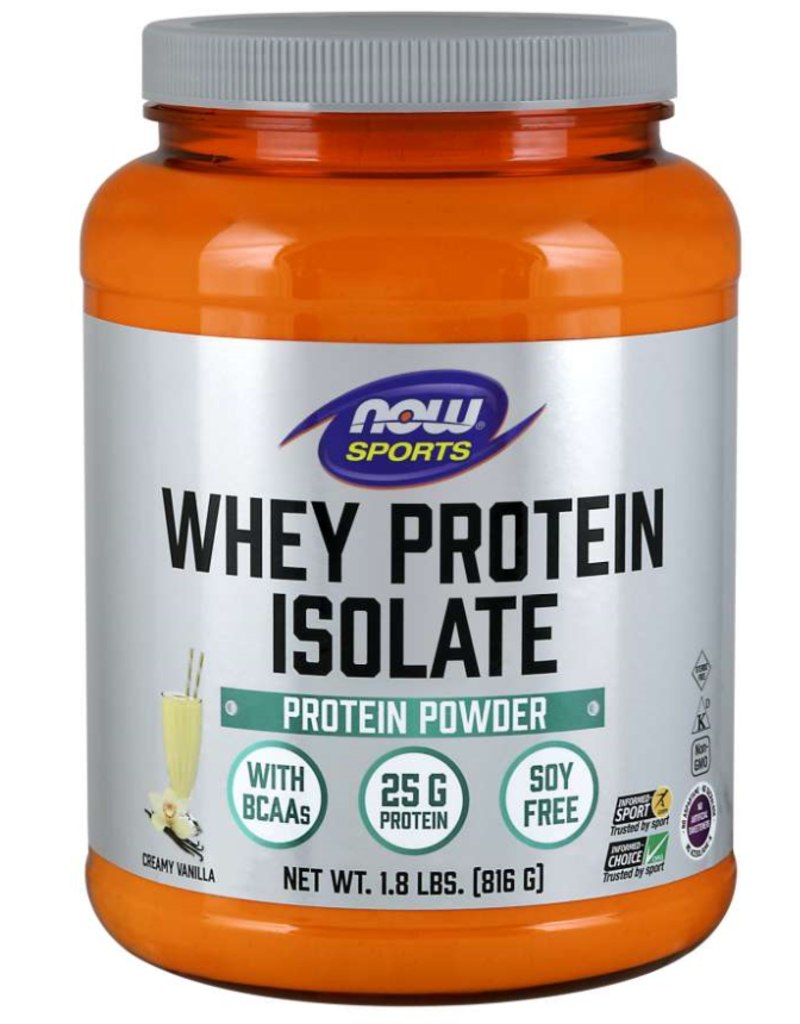 NOW FOODS VANILLA WHEY PROTEIN ISOLATE 1.8 LB (+$2 ASR)