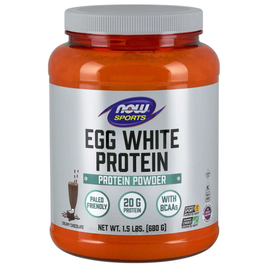 NOW FOODS EGGWHITE PROTEIN POWDER, PURE CHOCOLATE 1.5 LB