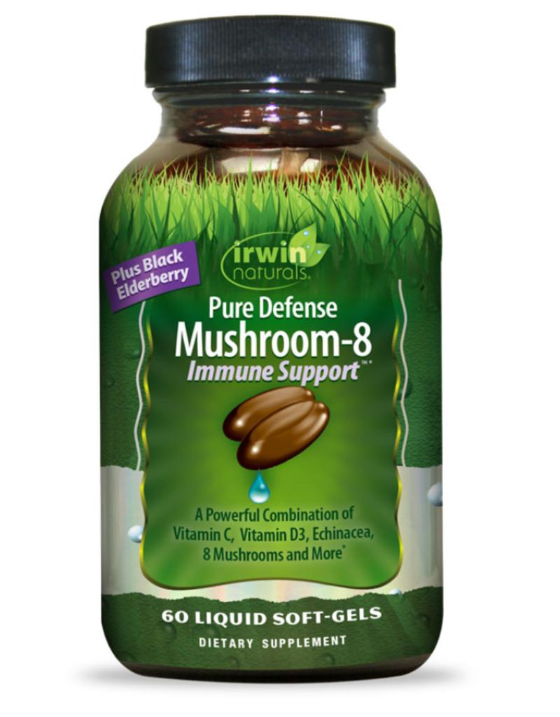 PURE DEFENSE MUSHROOM-8 IMMUNE SUPPORT 60 CT -S