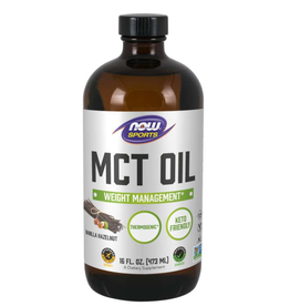 NOW FOODS VANILLA HAZELNUT MCT OIL 16 FL OZ