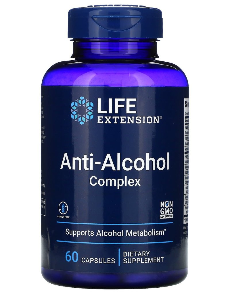 LIFE EXTENSION ANTI-ALCOHOL HEPATOPROTECTION COMPLEX 60 VC