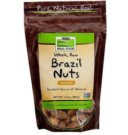 NOW FOODS BRAZIL NUTS WHOLE RAW 12 OZ - OOSV