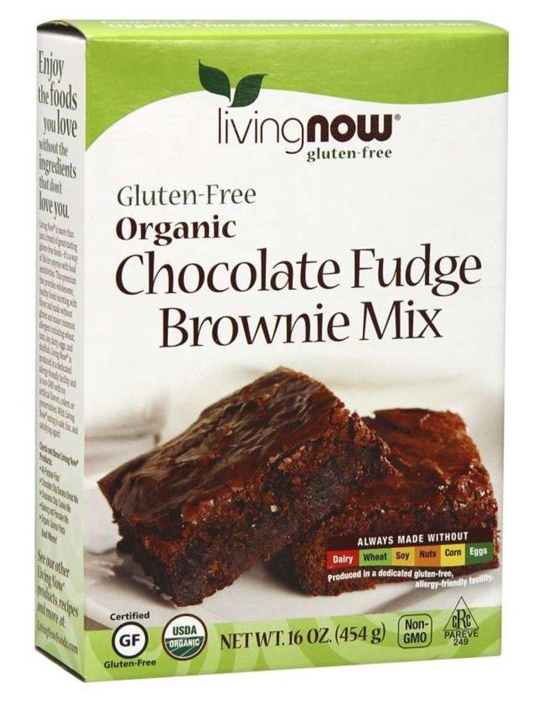 NOW FOODS GLUTEN FREE ORGANIC CHOCOLATE FUDGE BROWNIE MIX 16 OZ