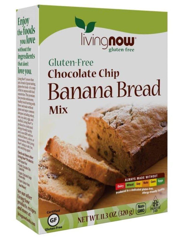 NOW FOODS GLUTEN-FREE CHOCOLATE CHIP BANANA BREAD MIX 10.2 OZ