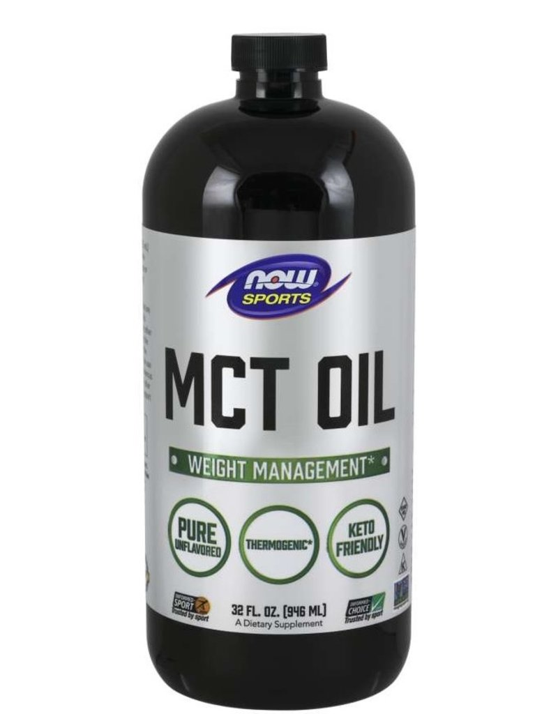 NOW FOODS MCT OIL 100% PURE UNFLAVORED 32 OZ