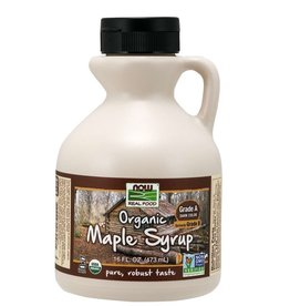 NOW FOODS MAPLE SYRUP, GRADE A DARK ORGANIC