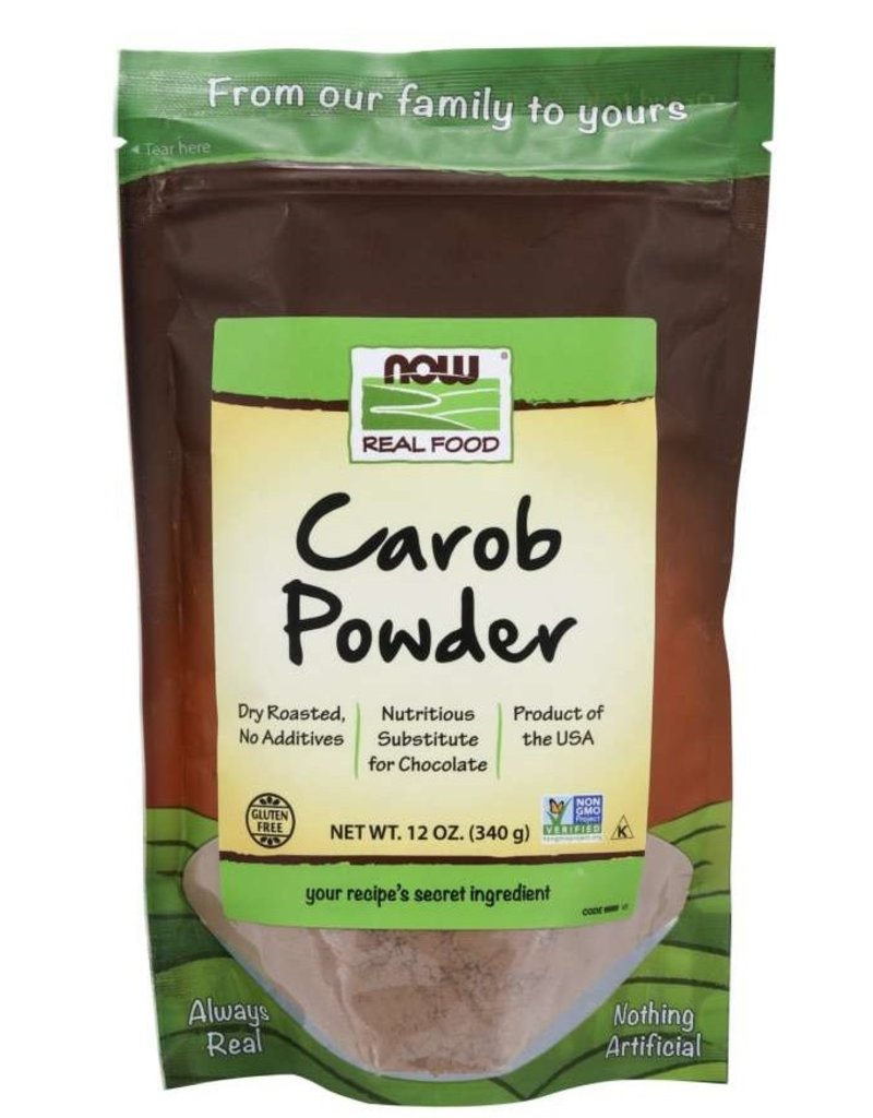 NOW FOODS CAROB POWDER ROASTED 12OZ
