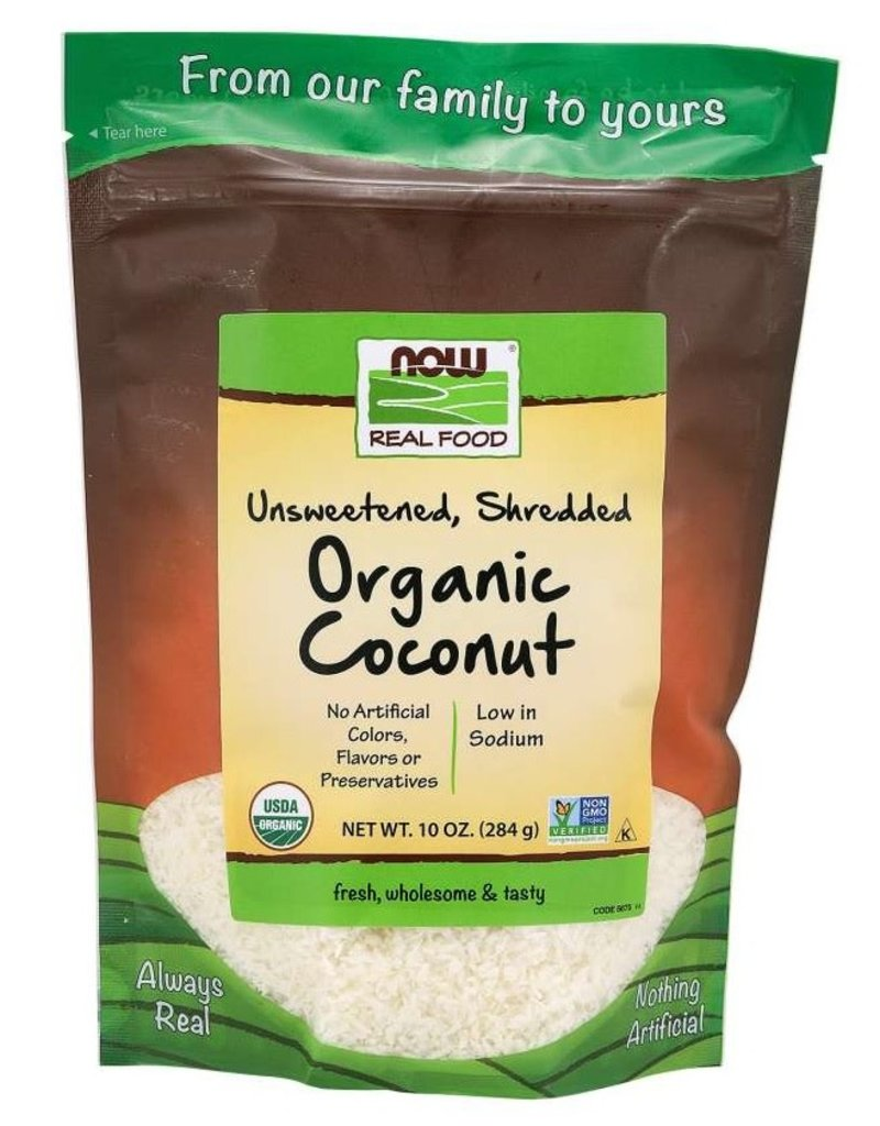 NOW FOODS COCONUT SHRED ORGANIC UNSWEETENED 10 OZ