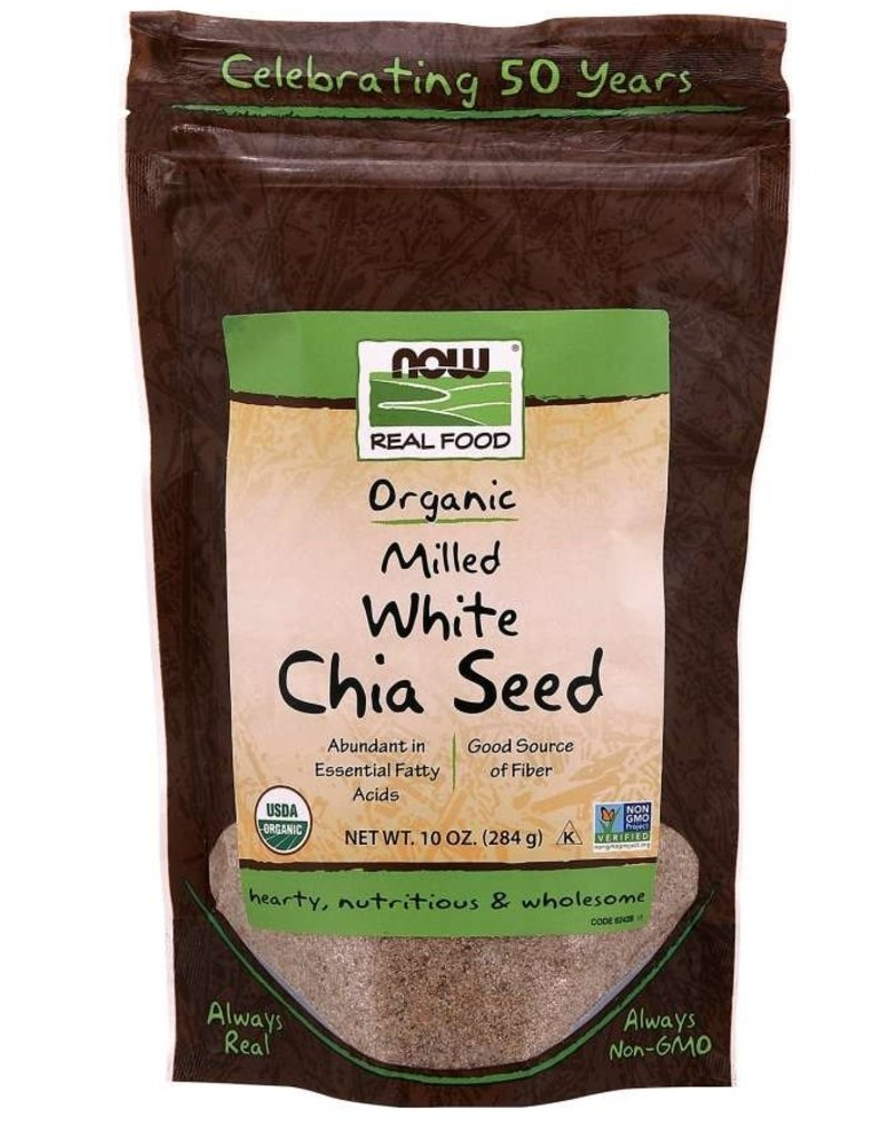 NOW FOODS CHIA SEED MEAL, ORGANIC, WHITE 10 OZ [s71/r61] (di)