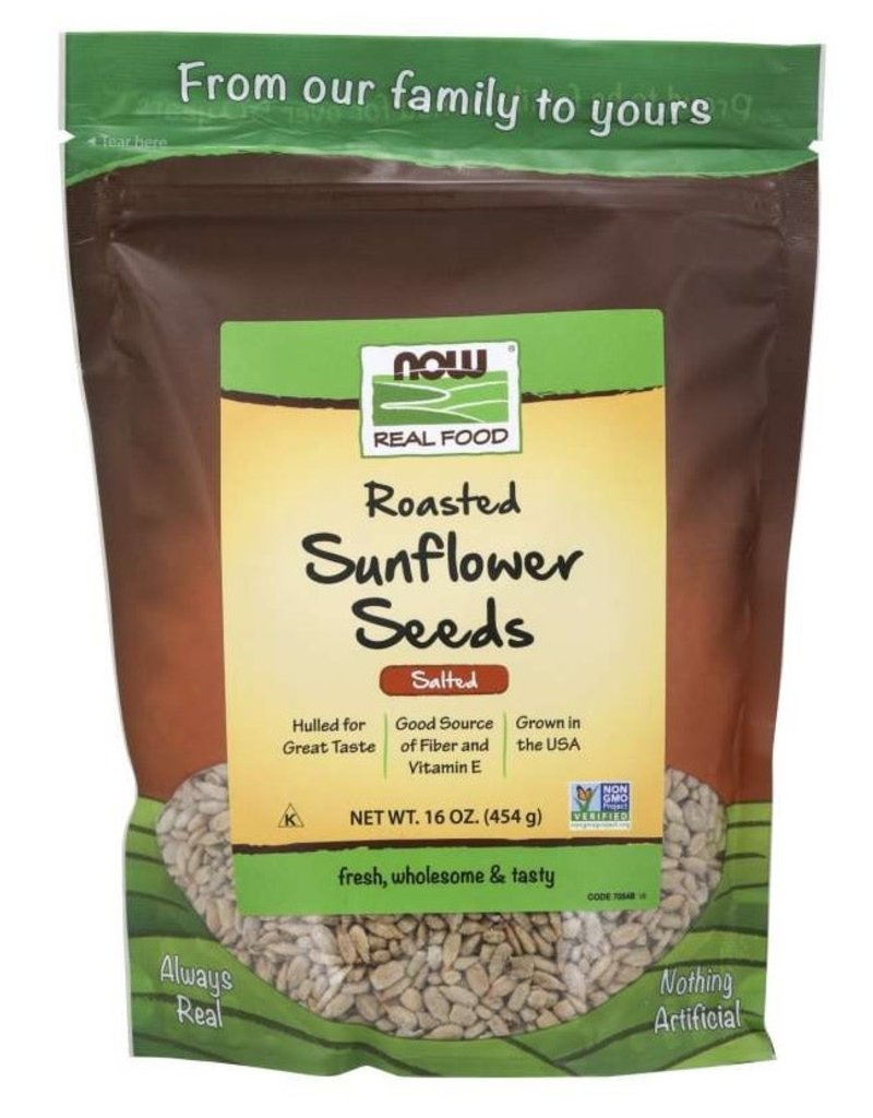 NOW FOODS SUNFLOWER SEEDS, ROASTED AND SALTED 1LB