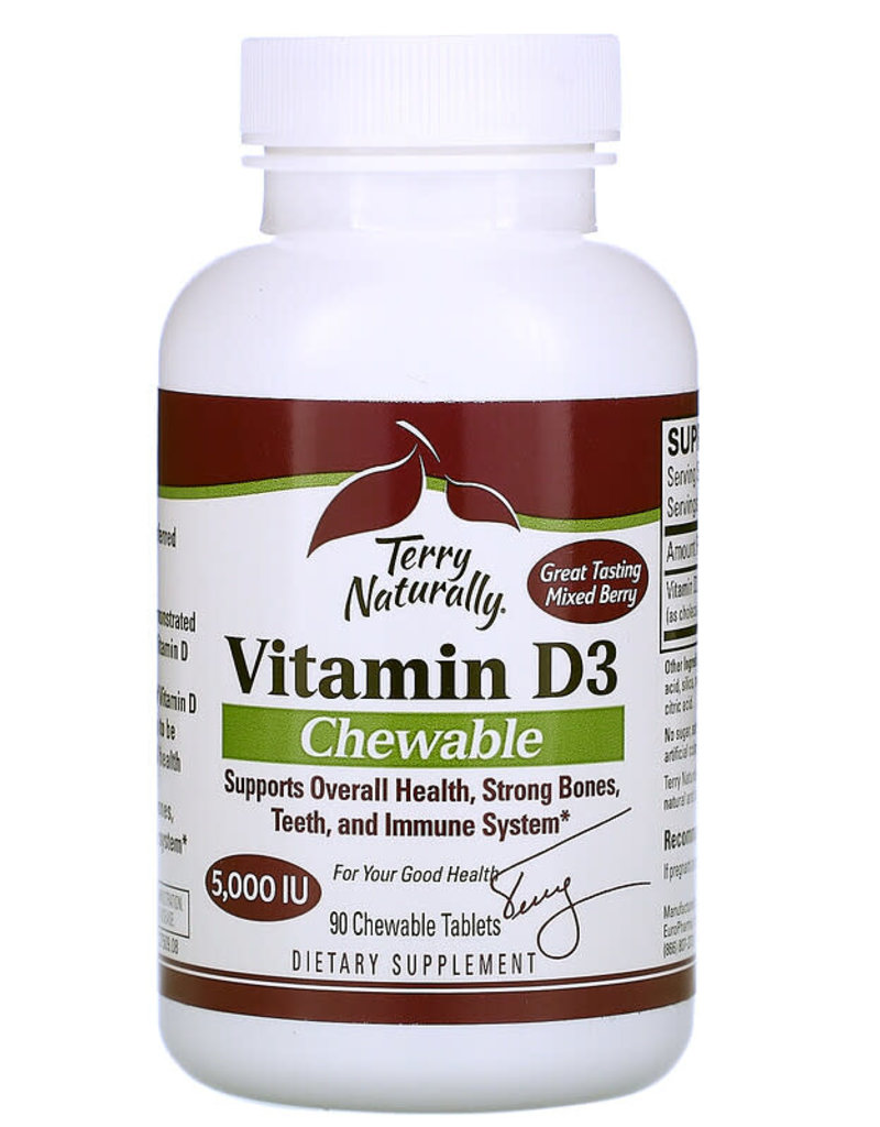 TERRY NATURALLY VITAMIN D3 5000 IU 90 CHW -S