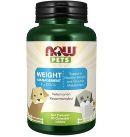 NOW FOODS PET, WEIGHT MANAGEMENT FOR DOGS 90 LZ -N