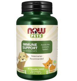 NOW FOODS PET, IMMUNE SUPPORT FOR DOGS & CATS 90 TB - OD [s401/r361d4/23] (di)