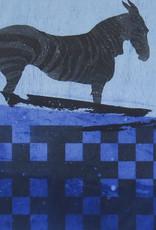"""David True """"Untitled (blue zebra)"""""""