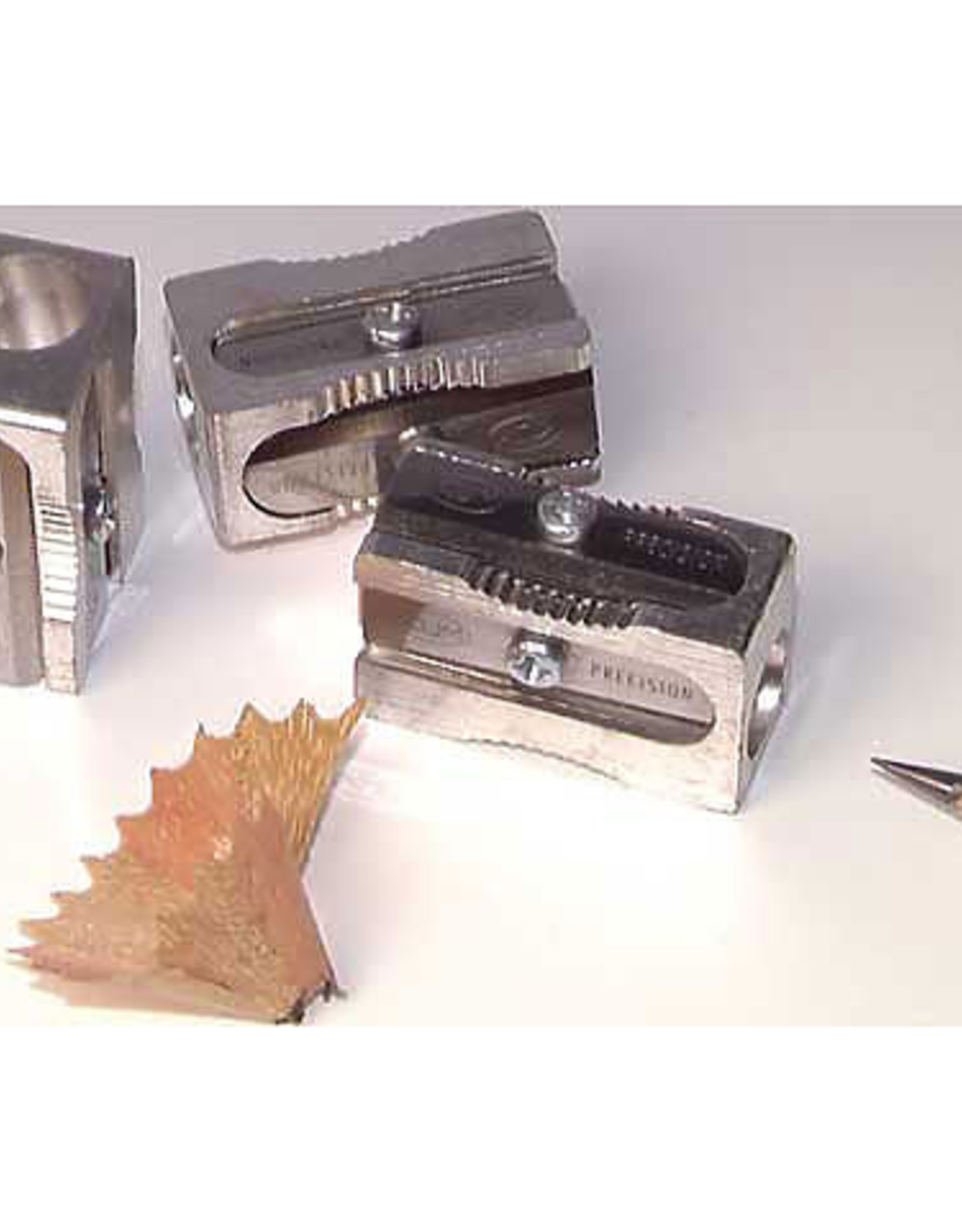 KUM Magnesium-Alloy Metal Rectangular Sharpener with Spare Blades