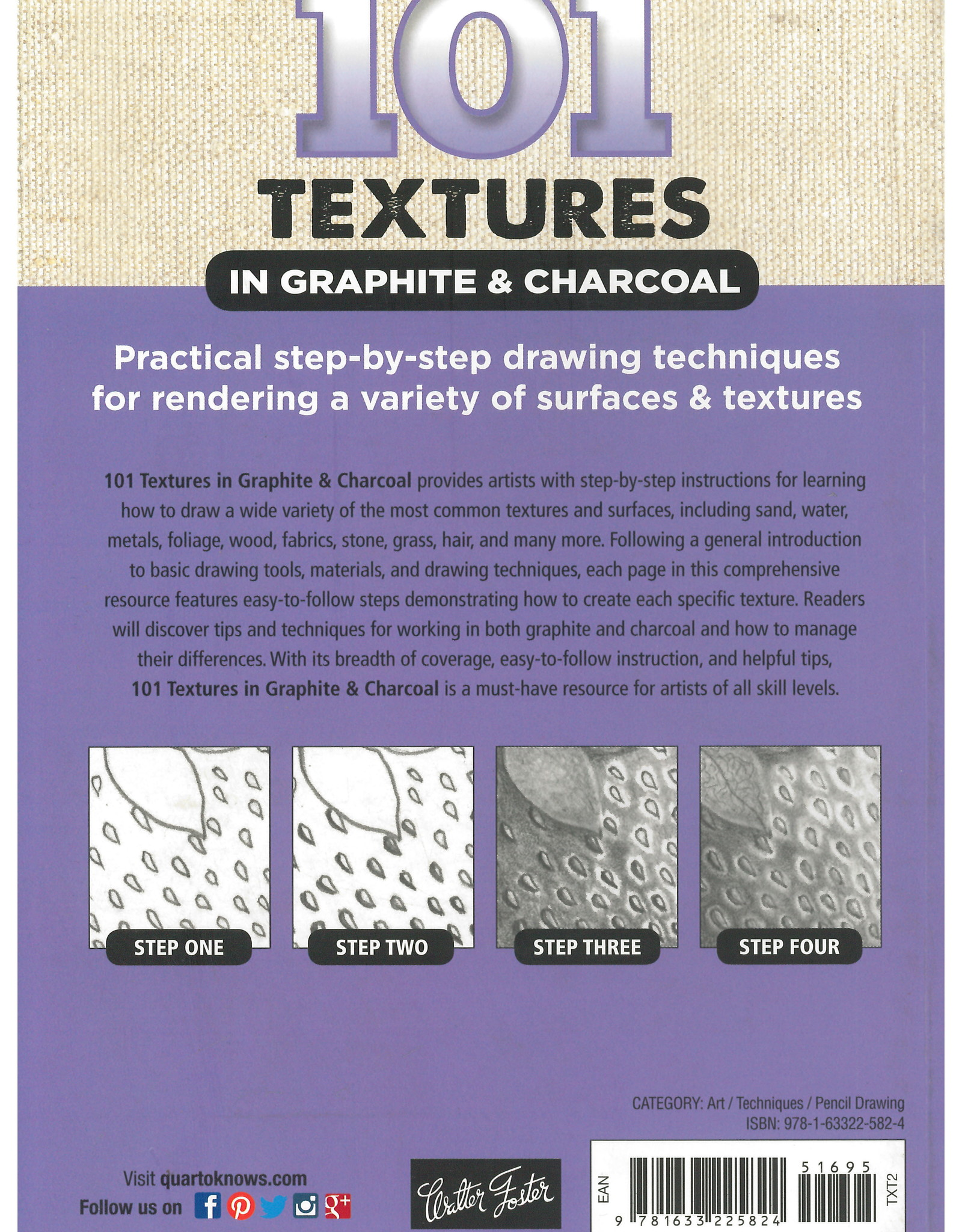 101 Textures in Graphite & Charcoal / Steven Pearce