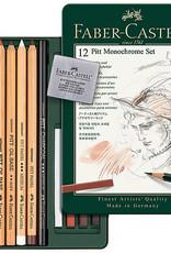 Faber-Castell Pitt Monochrome Set of 12 pencils charcoal eraser pastel