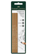 Faber-Castell PITT Compressed Charcoal Pencil Set