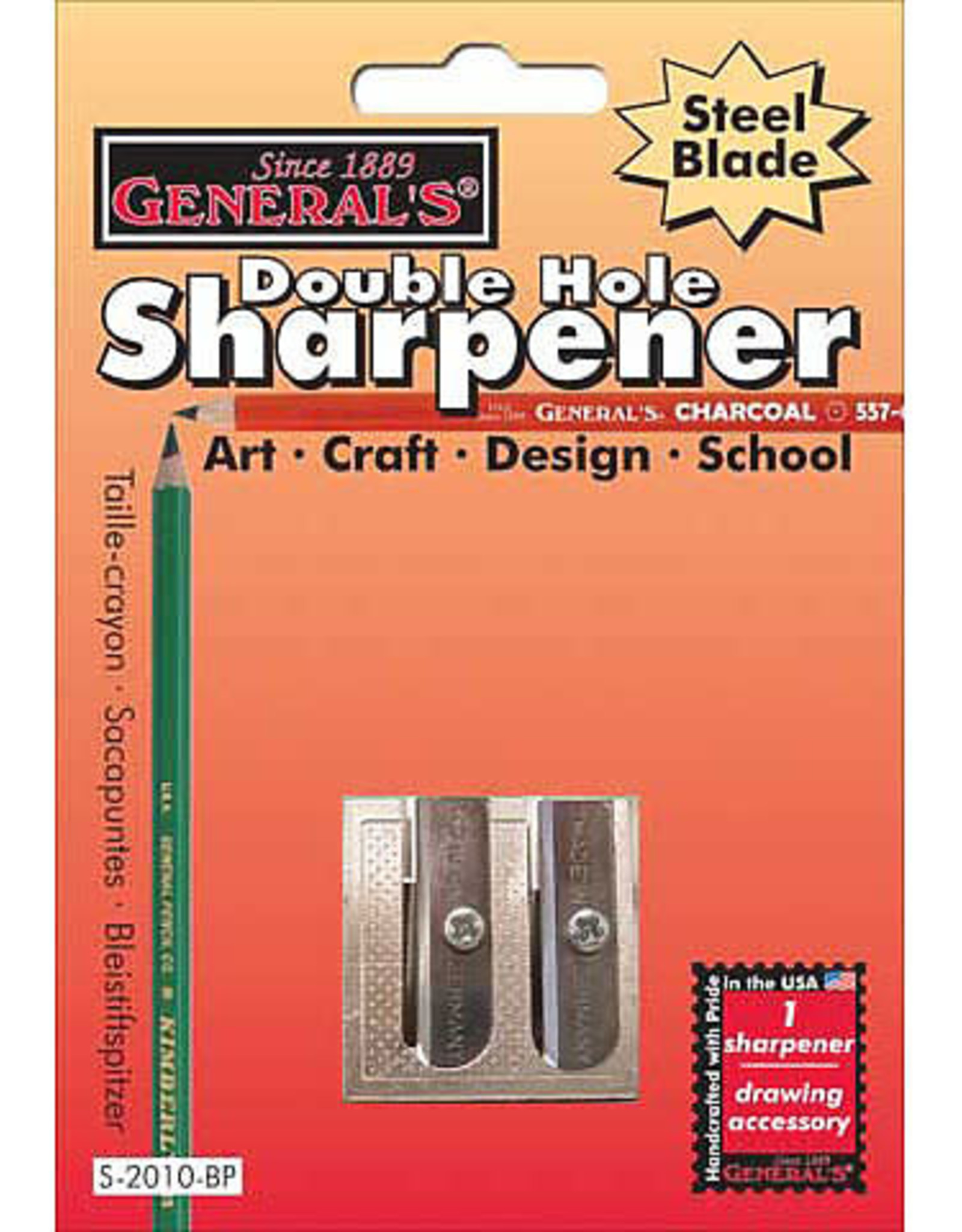 General Pencil Double Hole Stainless Steel Sharpener