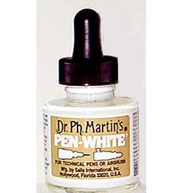 Dr. Ph. Martin's Pen White Ink, 1 oz. - Bottle