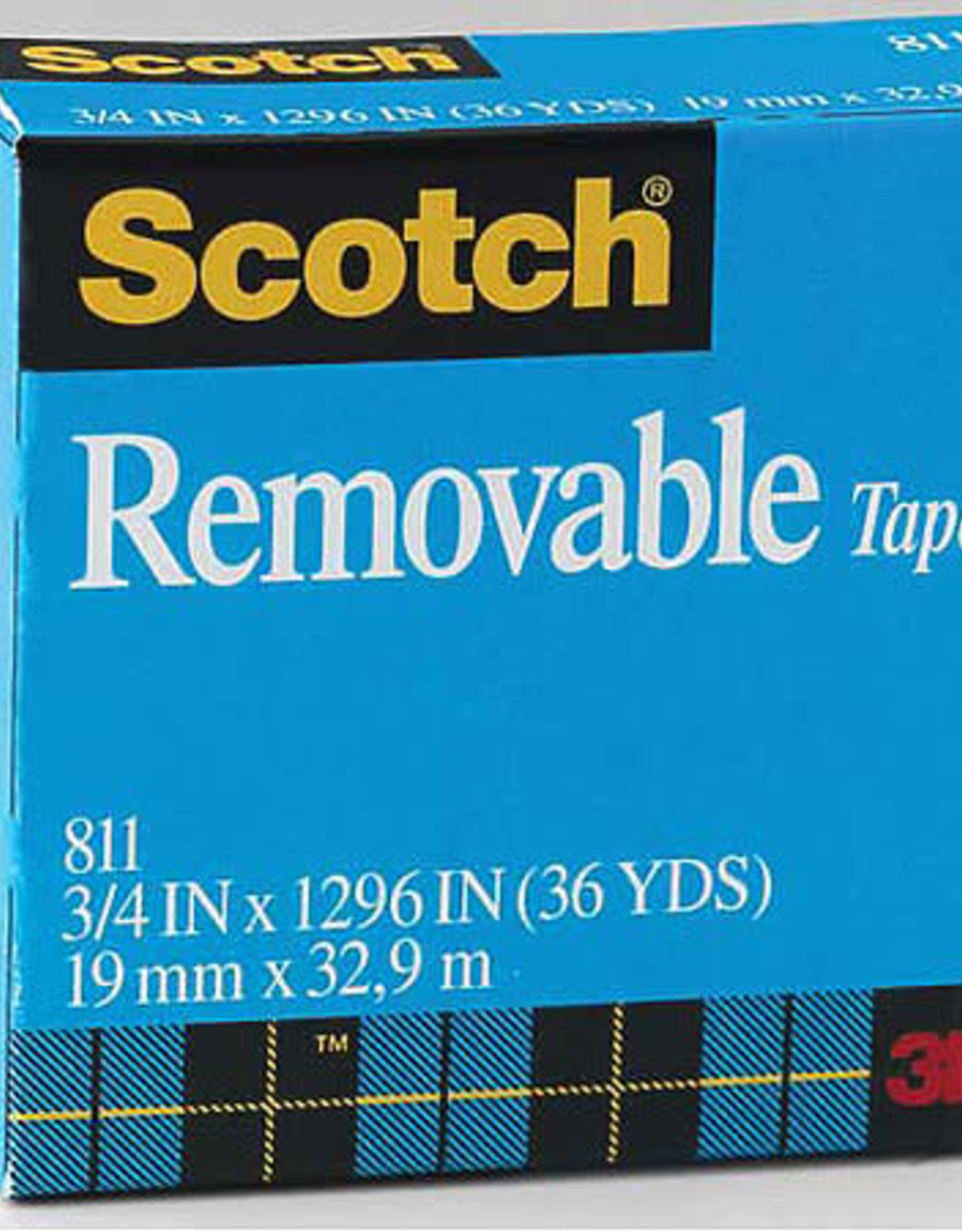 "Scotch #811 Removable Magic Tape 1/2"" x 36 yards"