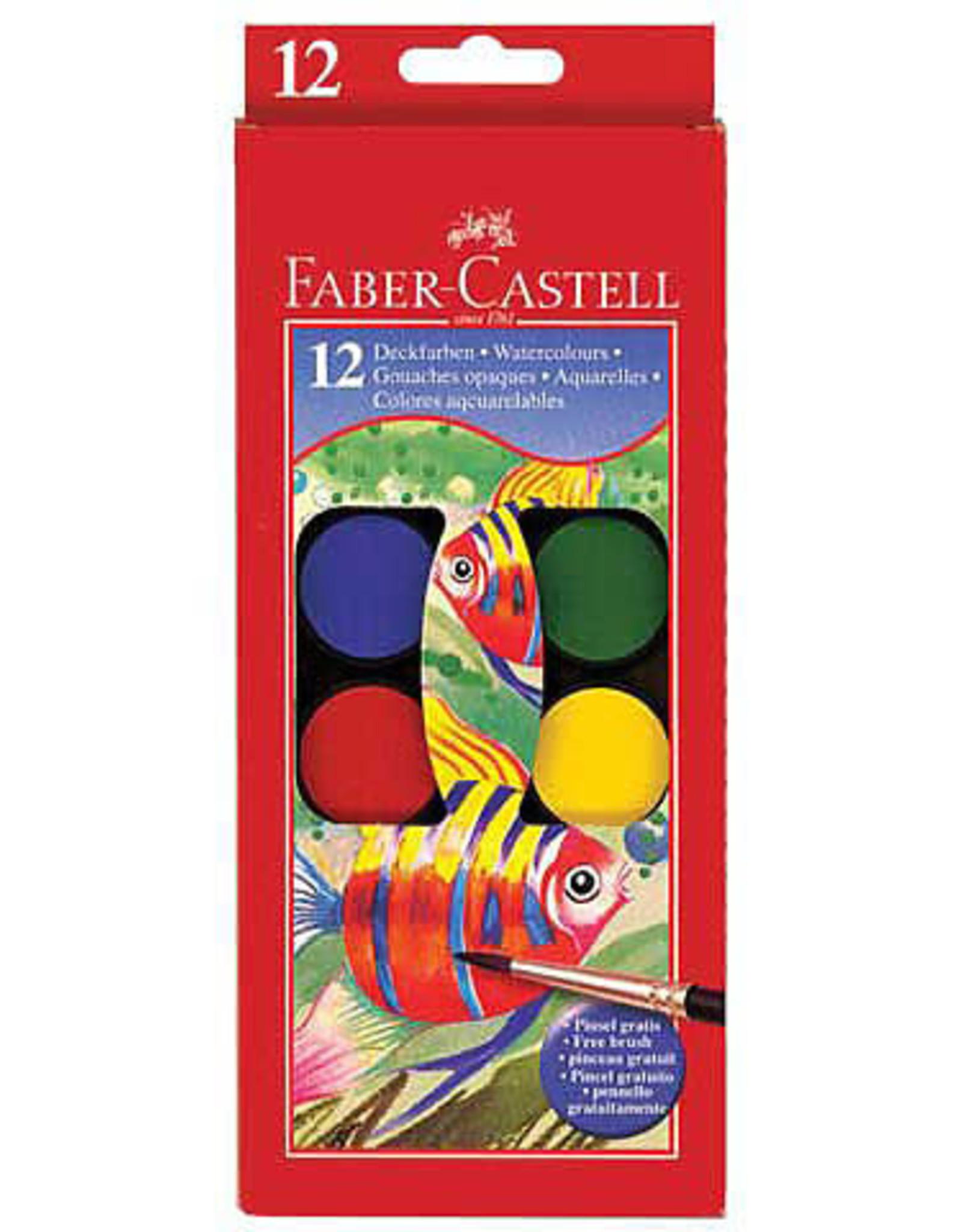 Faber-Castell Children's 12 Color Watercolor Paint Set