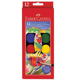 Faber-Castell Children's 12 Color Watercolor Paint Set