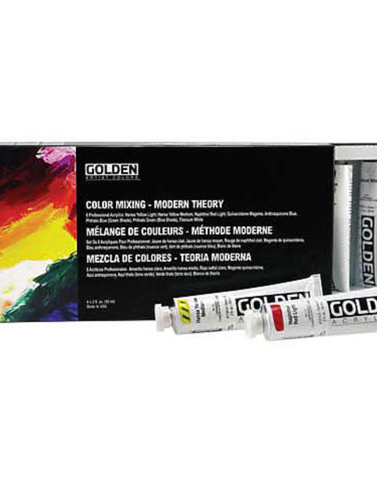 Golden Acrylic 8 Color Mixing Sets 2 fl oz