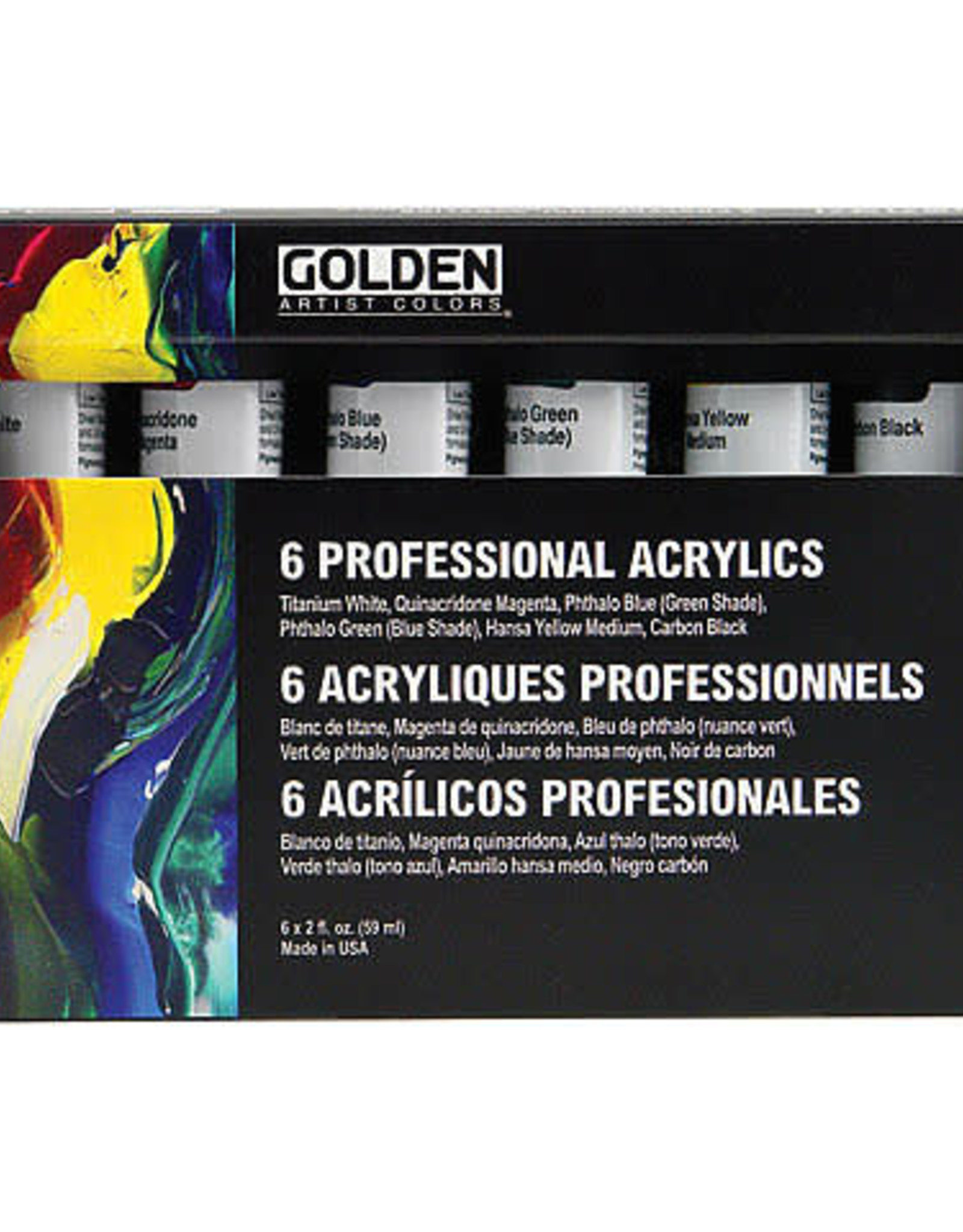 Golden Principal Professional Heavy-Body Acrylic Set