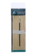 Bamboo Roll-Up Brush Holder