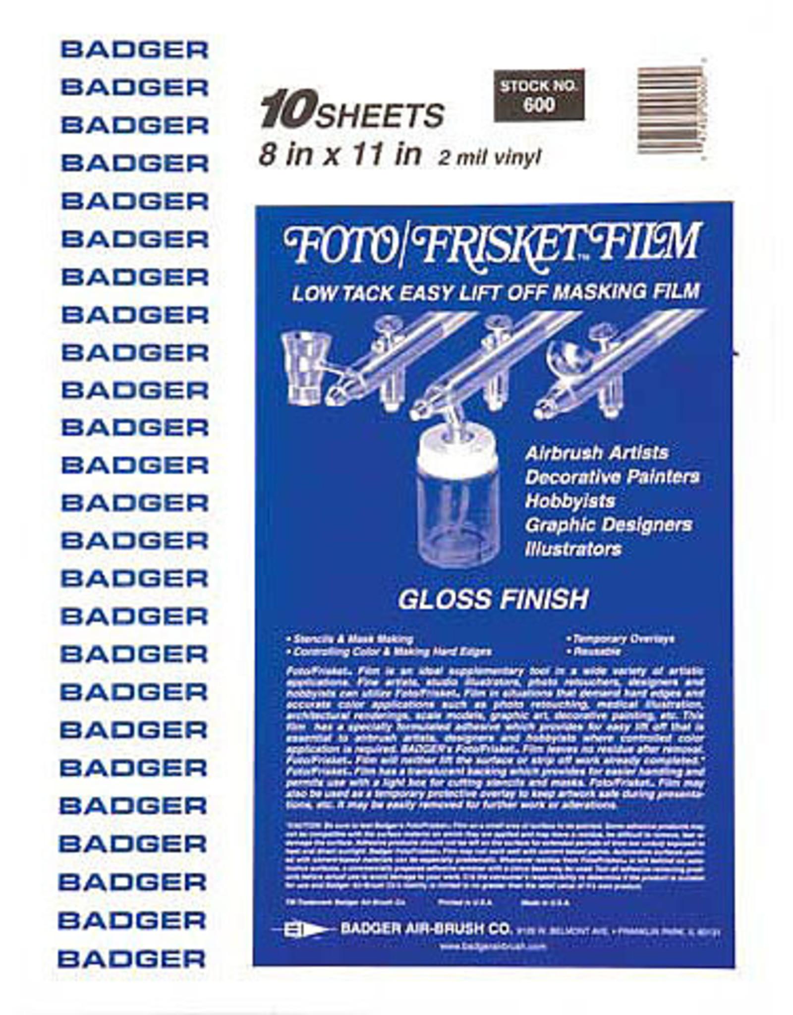 Frisket Film Sheet 8.5 x 11 Per Sheet