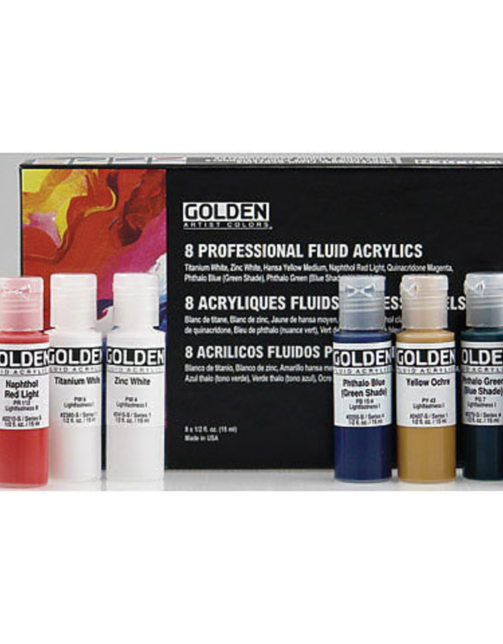 Fluid Acrylic Select Pro .5oz set of 8