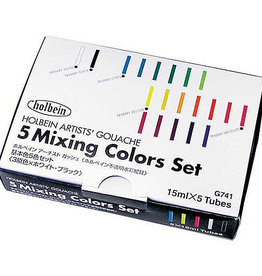 Gouache Mixing Colors Set of 5 15ml